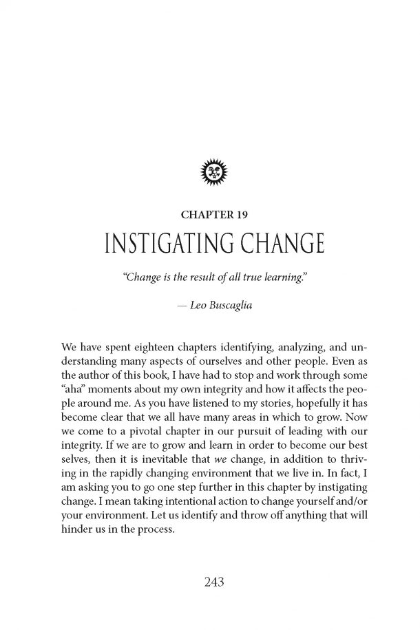 Jackie Wellwood Author of Lead with Your Integrity Download Chapter 19 Instigating Change